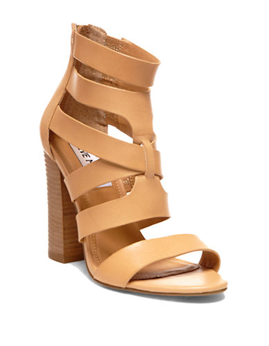 STEVE MADDEN Cruizz Leather Strappy Sandals
