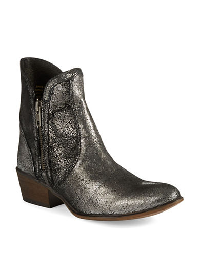 STEVE MADDENZipstr Leather Ankle Boots