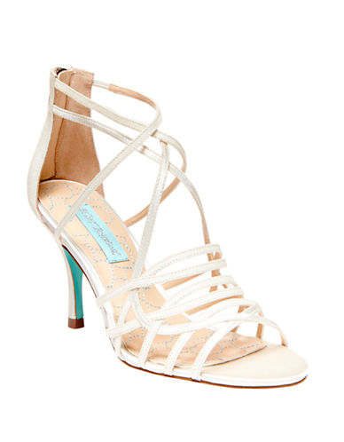 BETSEY JOHNSONCrown Strappy Open-Toe Sandals