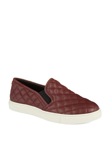 Steve Madden Ecentrc Quilted Faux Leather Slip-Ons