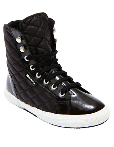 SUPERGAQuilted Nylon High Top Sneakers
