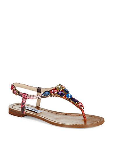 STEVE MADDENRhinestone Accented Sandals