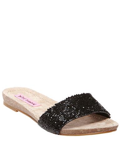 Betsey Johnson Fizzzle Sequin Fabric Sandals