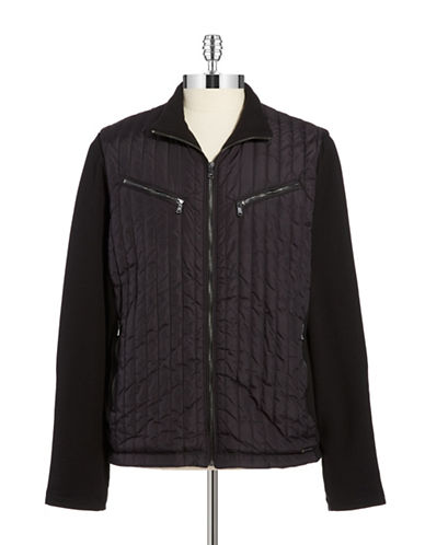 MICHAEL KORS Contrast Quilted Jacket