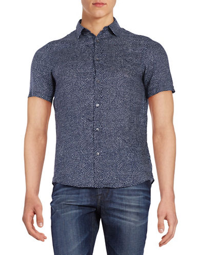 michael kors male 201920 dotted linen sportshirt