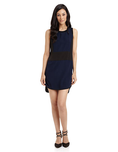 SAM EDELMANColorblocked Sleeveless Dress