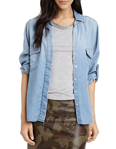 SAM EDELMAN Long-Sleeve Chambray Shirt