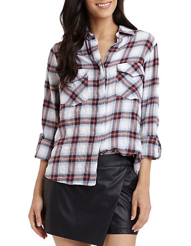 SAM EDELMAN Long-Sleeve Plaid Shirt