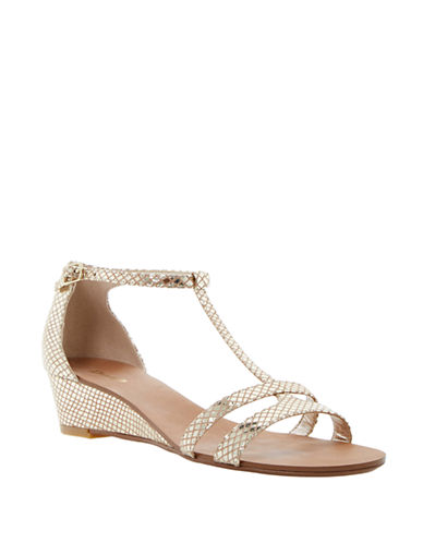 DUNE LONDONGain Leather Wedge Sandals