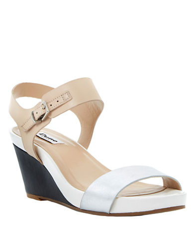 DUNE LONDONGetup Leather Wedge Sandals