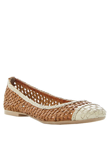 DUNE LONDON Madalyn Woven Leather Ballet Flats