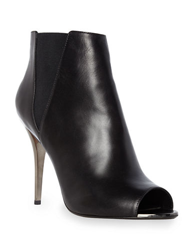 DUNE LONDONCynthia Leather Open Toe Chelsea Boots