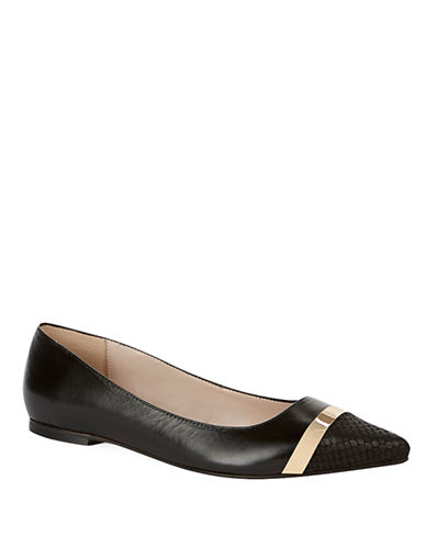 DUNE LONDON Amaretto Leather Flats