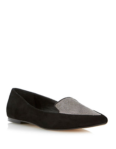DUNE LONDON Austine Suede Smoking Flats