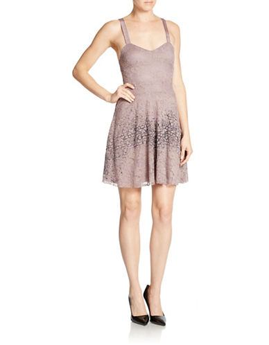FREE PEOPLEFlocked Lace Fit And Flare Dress