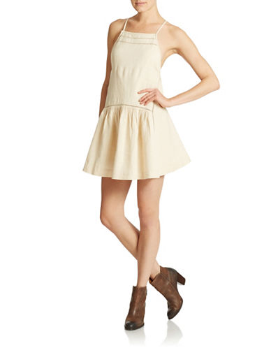 Shop Free People online and buy Free People Drop Waist Apron Dress dress online