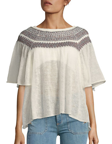 free people female 45883 patterned poncho top