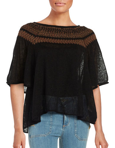 free people female 188971 patterned poncho top