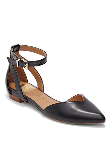 DV BY DOLCE VITA Gari Cork and Patent Leather Flats