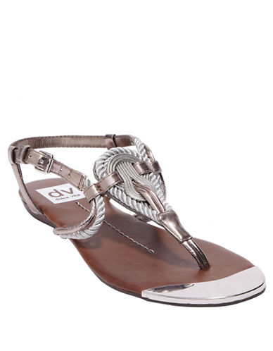 DV BY DOLCE VITA Anica Metallic Faux Leather Sandals
