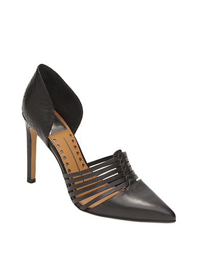 DOLCE VITAKisa Leather Woven Pumps