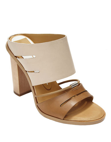 DOLCE VITA Odea Leather Colorblock Mules