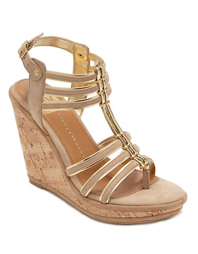 DV BY DOLCE VITA Tenley Suede Wedge Sandals