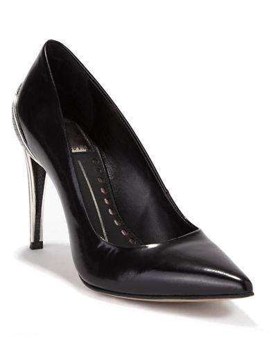 DOLCE VITAKarisse Leather Embossed-Heel Pumps