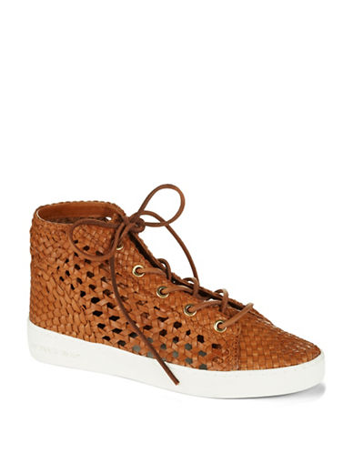 MICHAEL KORS Verna Woven Leather Sneakers