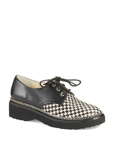 MICHAEL MICHAEL KORS Vivia Houndstooth Accented Oxfords