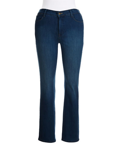 NYDJ PLUSPlus Straight Leg Stretch Jeans