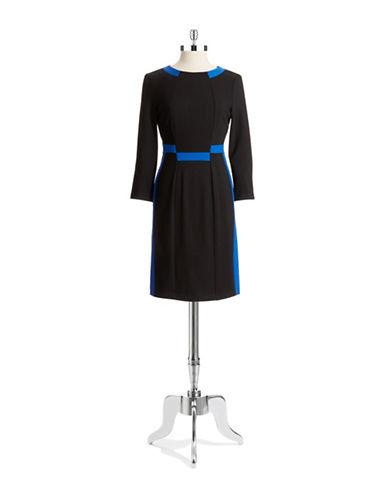 Shop Nydj online and buy Nydj Colorblock Sheath Dress dress online