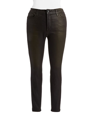 Nydj Plus Plus Coated Skinny Jeans