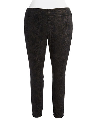 Nydj Plus Plus Snakeskin Leggings