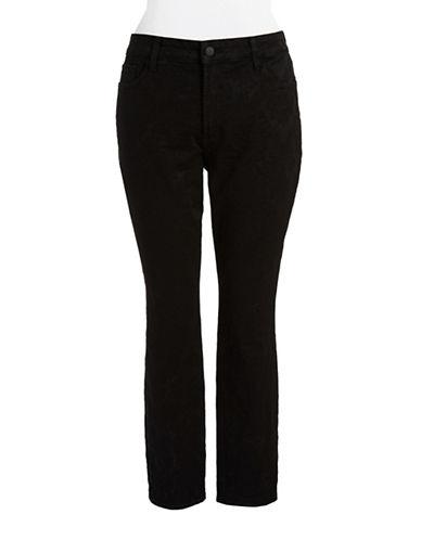 Nydj Plus Plus Jacquard Print Skinny Jeans