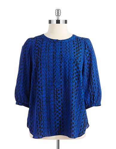 Nydj Plus Plus Patterned Blouse