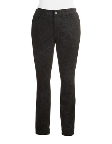 Nydj Plus Plus Patterned Skinny Pants