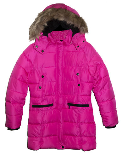 STEVE MADDEN Girls 7-16 Hooded Parka Jacket