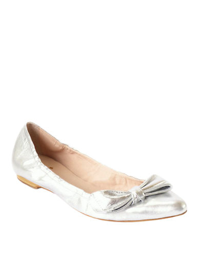KATE SPADE NEW YORK Suki Metallic Leather Flats