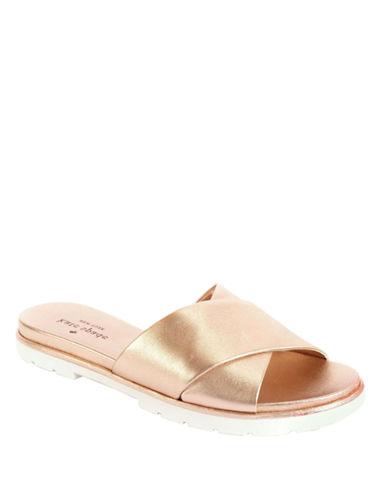KATE SPADE NEW YORKMarkey Metallic Leather Sandals
