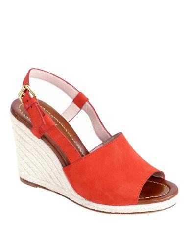 KATE SPADE NEW YORKBowdon Leather Espadrille Wedge Sandals