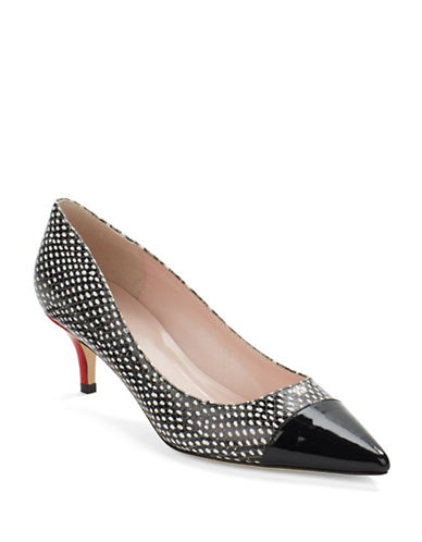 KATE SPADE NEW YORKMarcella Printed Leather Point Toe Pumps