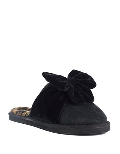 KATE SPADE NEW YORKBritney Bow Faux Fur-Lined Slippers