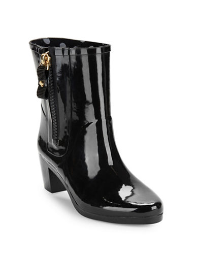 Penny High-Heel Rubber Ankle Rain Boots | Lord & Taylor