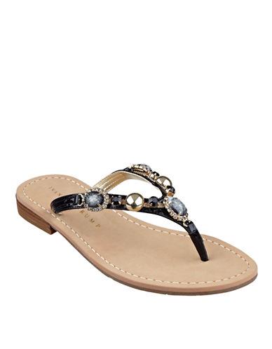 IVANKA TRUMPPryor Jeweled Leather Thong Sandals