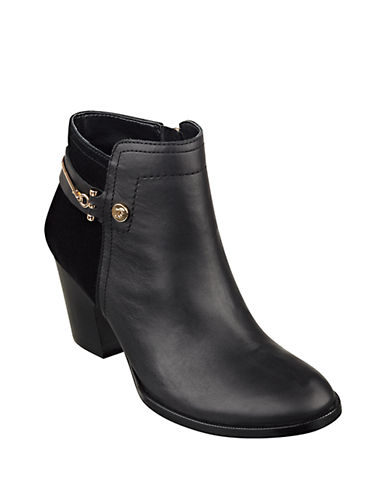 IVANKA TRUMPTifton Leather and Suede Booties