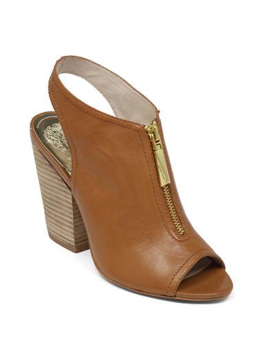 VINCE CAMUTOMozza Leather Zip Slingback Sandals