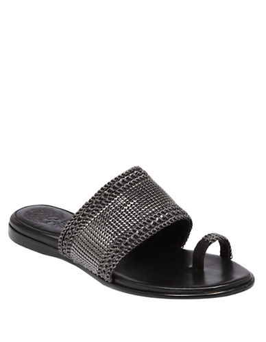 VINCE CAMUTO Amalie Metal Slide Sandals