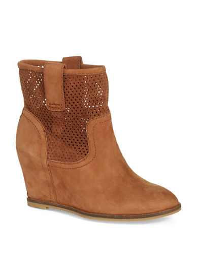 Buy Keno Leather Covered-Wedge Booties by Lucky Brand online