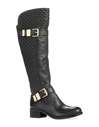 VINCE CAMUTO Faris Quilted Riding Boots